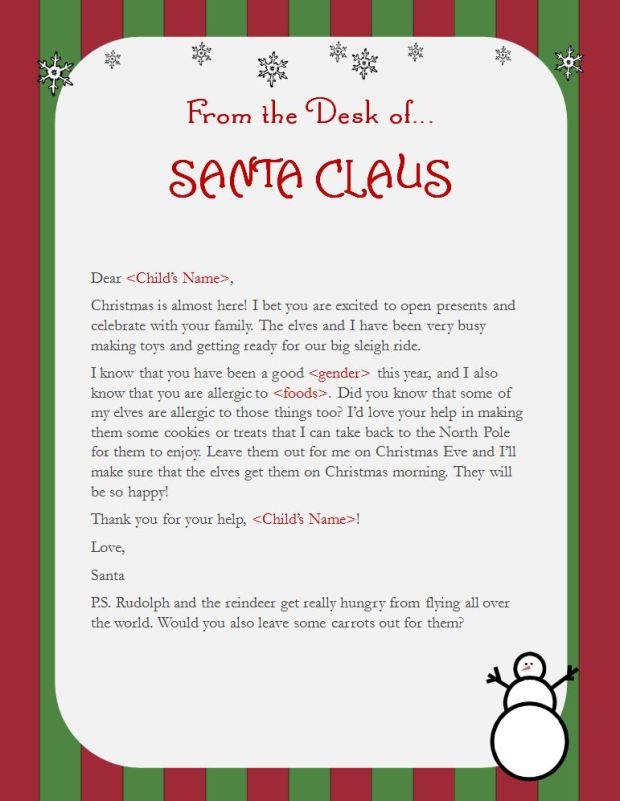 Elf on the shelf idea for kids with food allergies fare blog