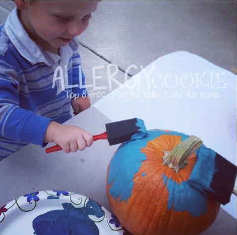 teal pumpkin painting allergy cookie
